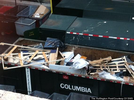 columbia mattress garbage