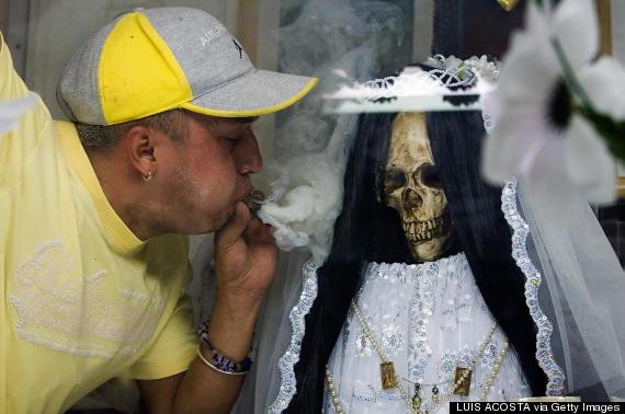 Meet Santa Muerte, The Tequila-Loving Saint Comforting Both