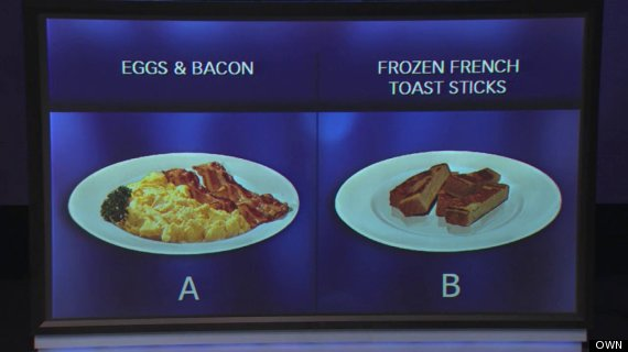 own oprah winfrey show breakfast eggs bacon