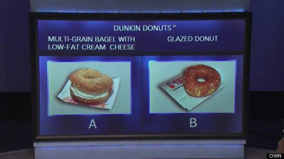 own oprah winfrey show breakfast dunkin donuts