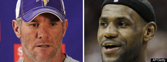 Lebron James Brett Favre