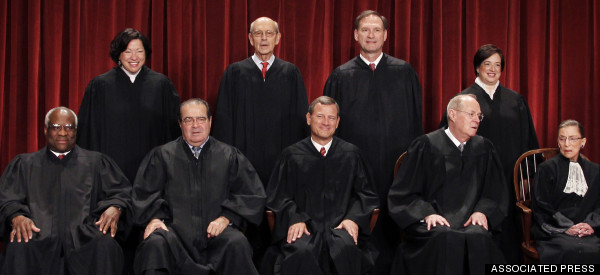 supreme court justices pose