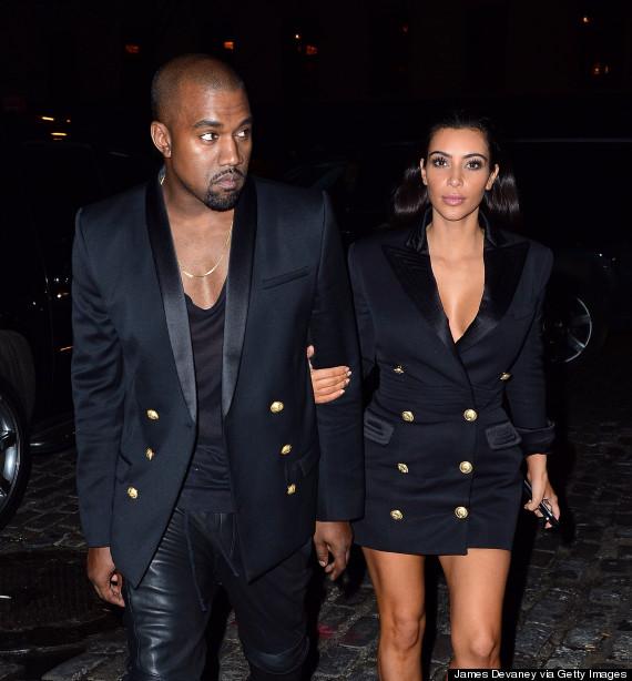 kim kardashian kanye west matching