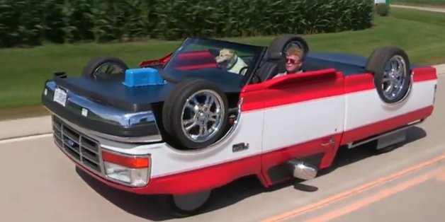 illinois mechanic rick sullivan builds upside down car. Black Bedroom Furniture Sets. Home Design Ideas