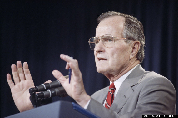 george bush gorbachev