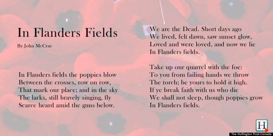 In Flanders Fields: Words To John McCrae's Remembrance Day Poem