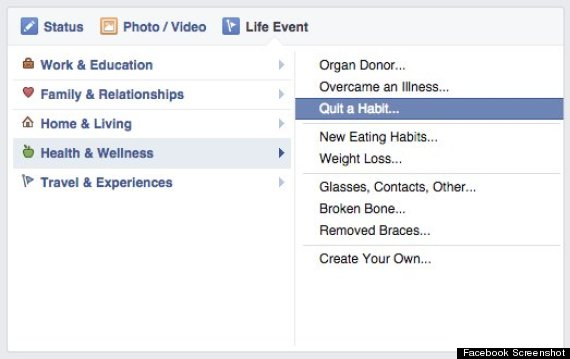facebook life event