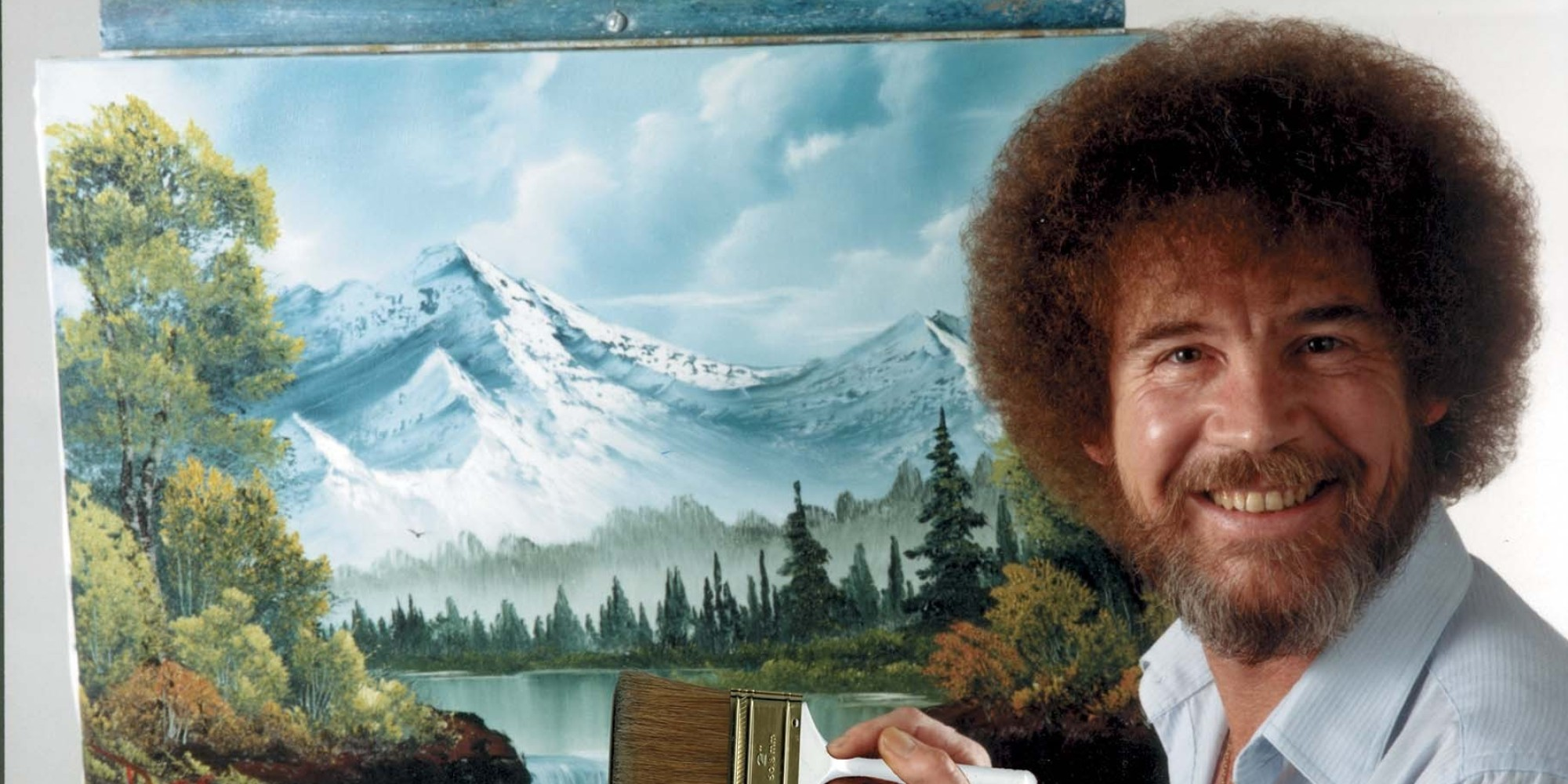 Here Is Bob Ross Beating Paint Brushes For Over Three ...