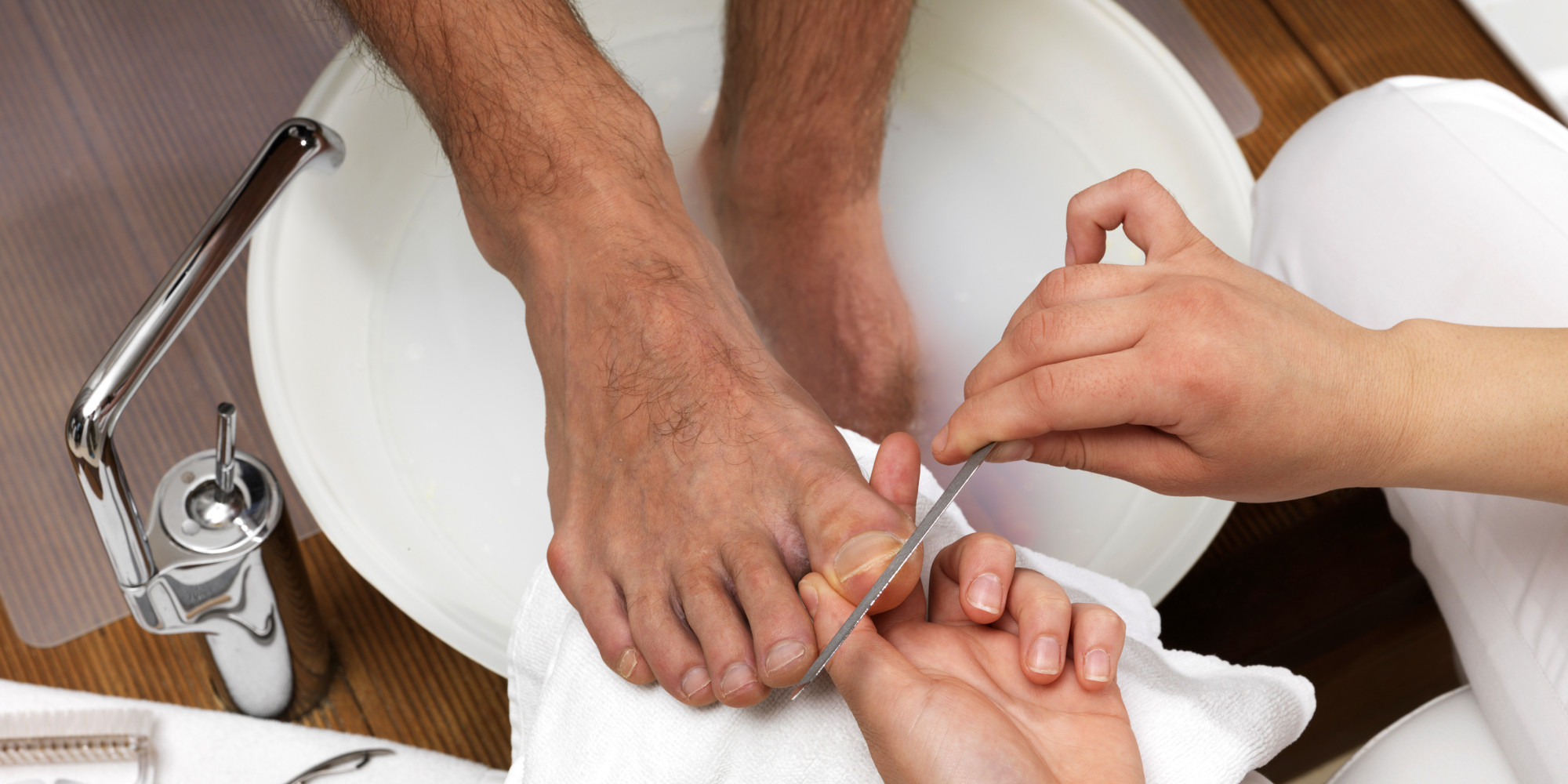 Manicure, Pedicure for Men Only