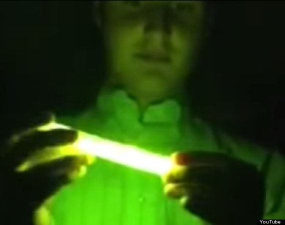 glow stick in microwave