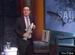 John Oliver Shoots Salmon At Celebrities Including Jon Stewart And JJ Abrams Because Why Not?