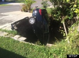 LOOK: Florida Sinkhole Swallows Another Helpless Car