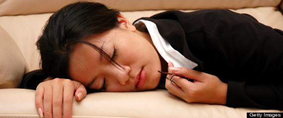 woman power nap