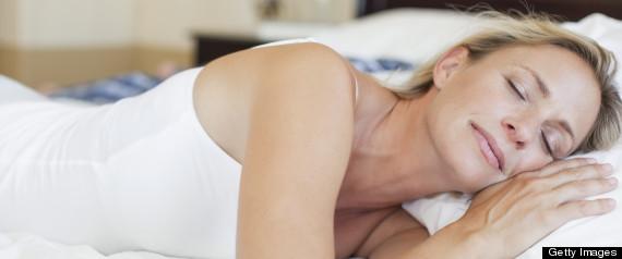 woman nap bed