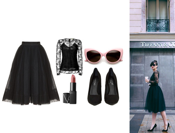 3d1e9cec4 Martin Grant Ballerina Tulle Skirt (similar here), Burberry London Lace  Stacey Top, Nars Sheer Lipstick In Dolce Vita, Oversized Vintage Inspired  Super ...