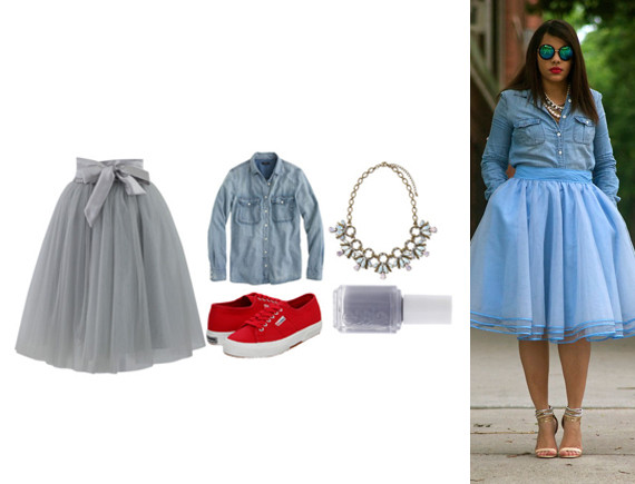 tulle chambray