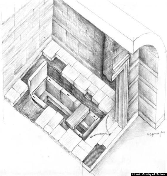 greek tomb sketch