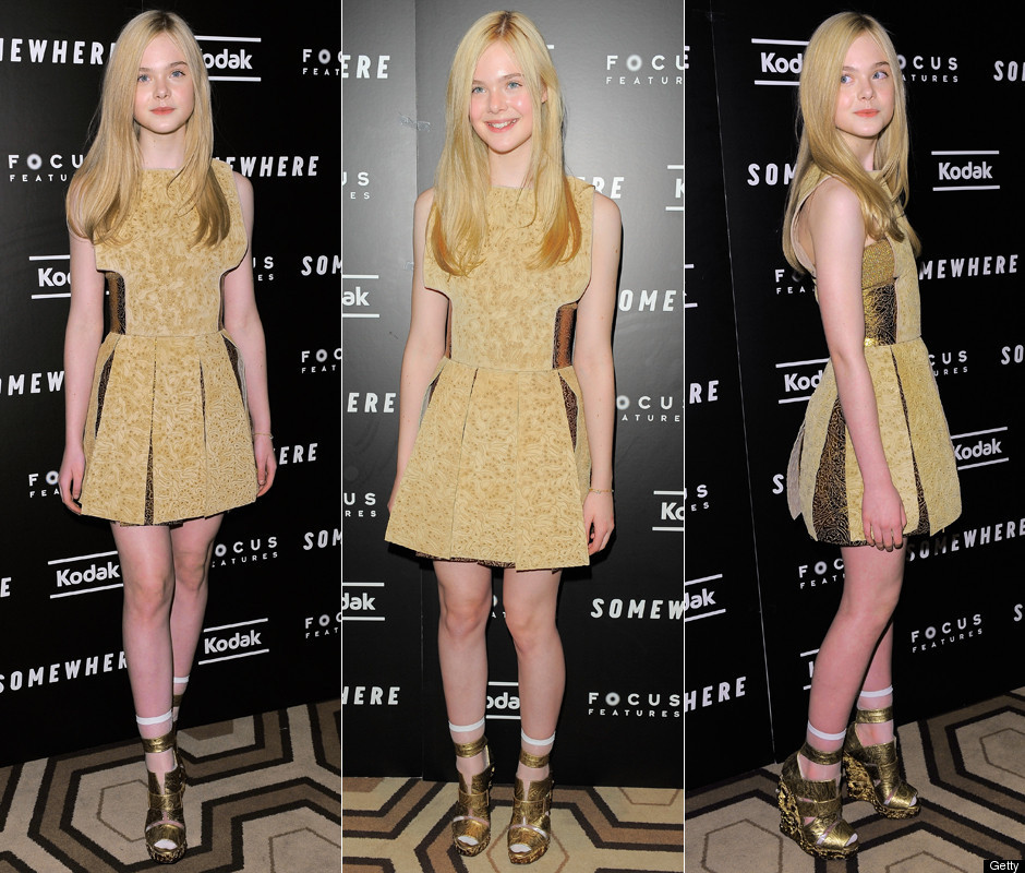 elle fanning, 12 years old, steps out in neck-to-toe rodarte (photos ...