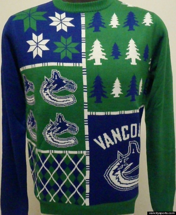 Vancouver Canucks Ugly Christmas Sweaters Are The Miracle ...
