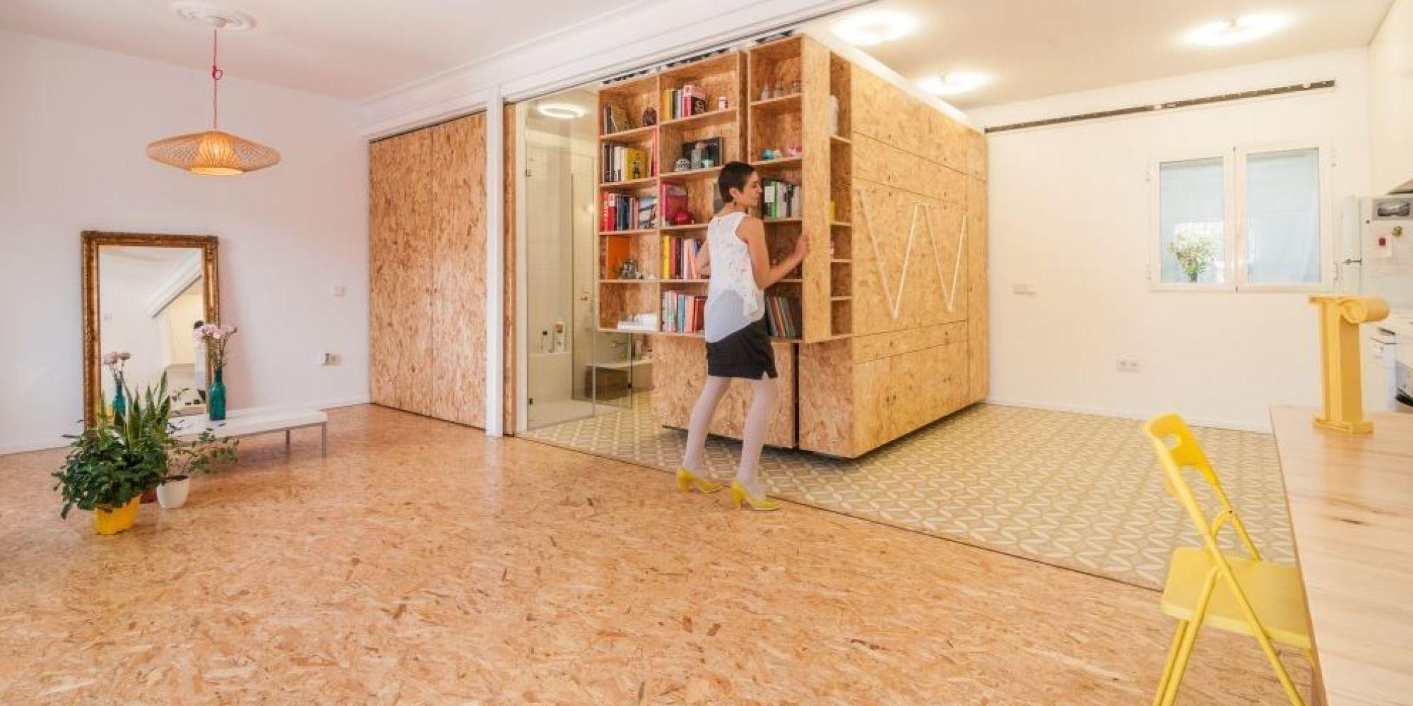 Photos une maison insolite dont les murs coulissent pour for Espace insolite