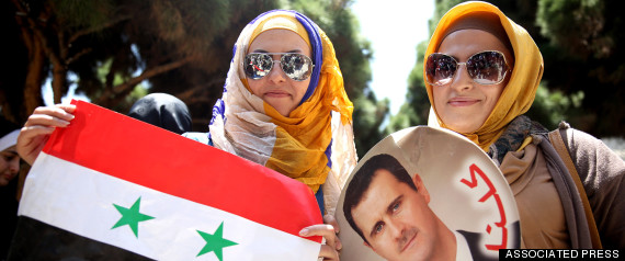 syrian women assad