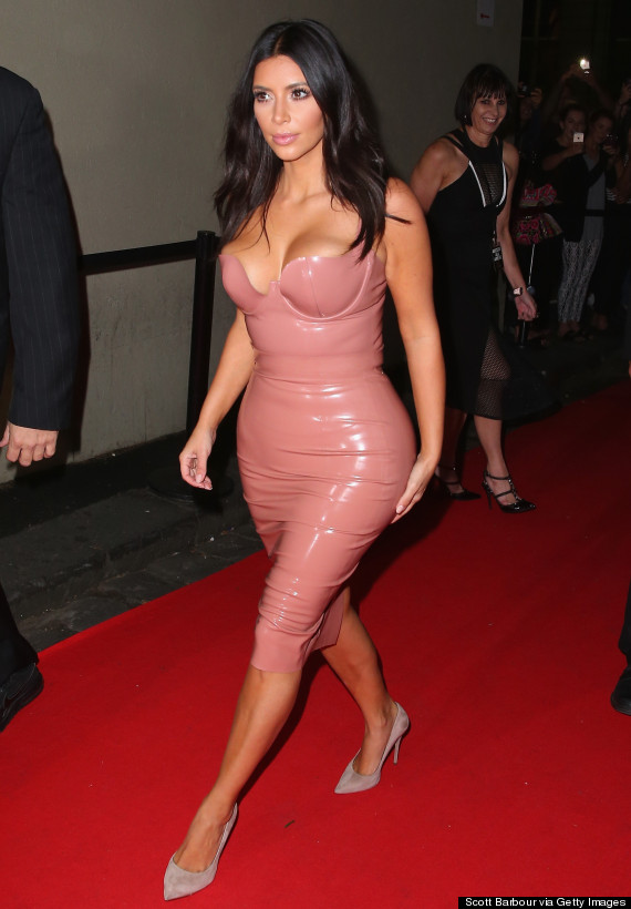 kim kardashian latex