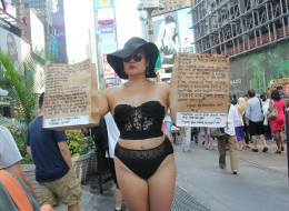 This Artist Is Wearing Lingerie In Public To Reclaim Women's Sexuality