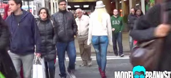 Nadie en N.Y. notó que ella caminaba sin pantalones (EXPLÍCITO)
