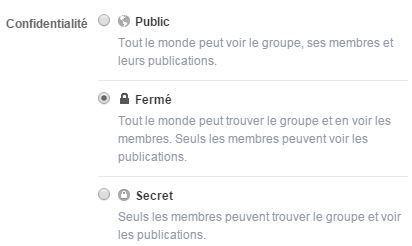 niveaux securité groupes facebook