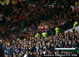 England Fans Sing 'F*** The IRA' At Celtic Park