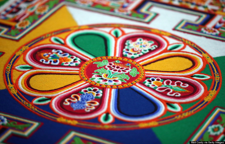 get up close and personal with this impossibly intricate buddhist