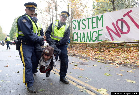 kinder morgan arrests burnaby