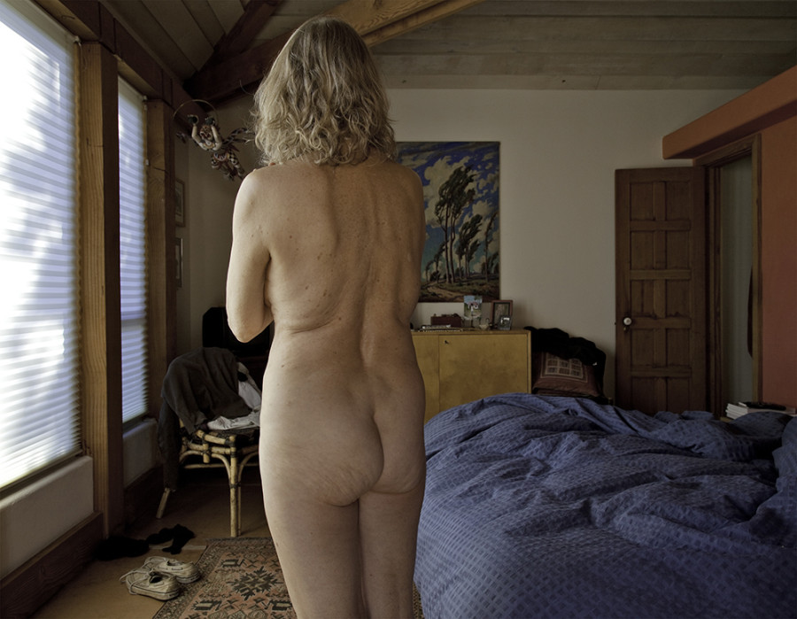 Older womans naked body
