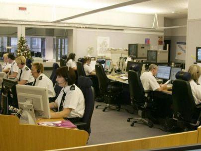 A police call centre