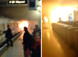 Fire Burns In Charing Cross Station