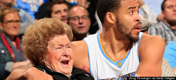 WATCH: Javale McGee Chases Ball, Kisses Woman In Stands