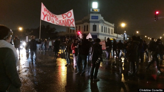 shaw protests shut down major intersection
