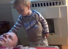 A Toddler's Guide To Waking Up Dad: Slap Him, Hard