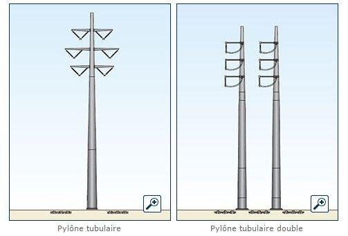 pylones tubulaires