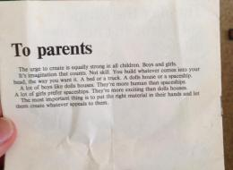 LEGO's Awesome Message To Parents In The '70s