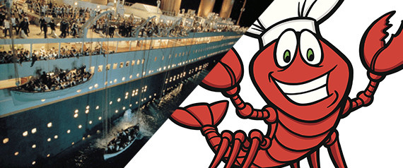 titanic sinking lobsters