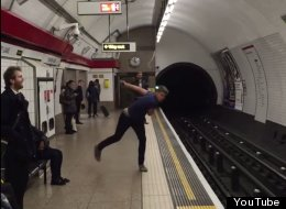 Two Guys Have An Epic 'Tongue Click' Ping Pong Match On London Underground Platform