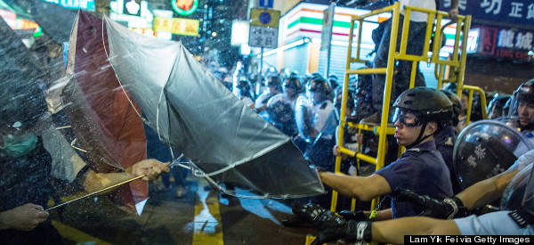 Hong Kong Police Move In On Volatile Protest Site