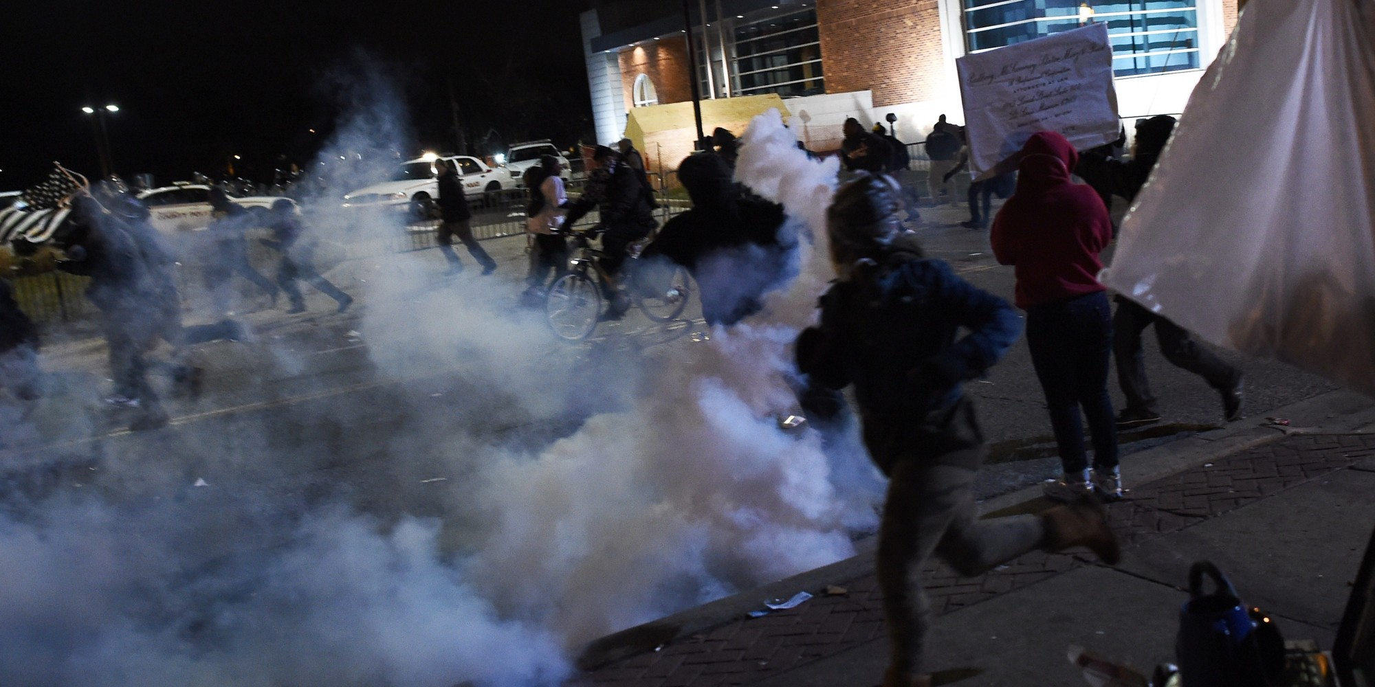 Ferguson Protests Hit With Tear Gas Huffpost