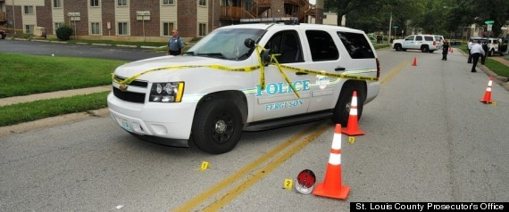 michael brown crime scene ferguson