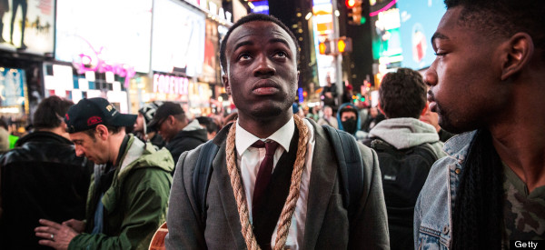 47 Powerful Images Of Ferguson Protesters Marching On New York's Times Square