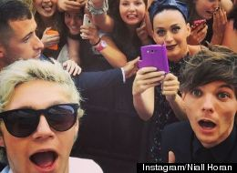 Niall Horan And Louis Tomlinson Photobombed By Katy Perry