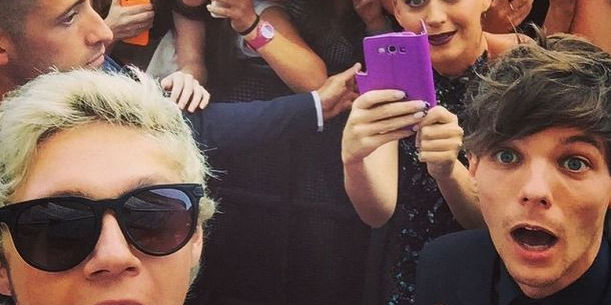aria awards 2014 katy perry photobombs one direction at