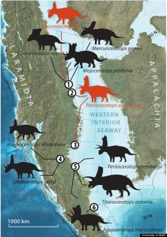 dinosaur map