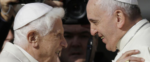 POPE BENEDICT POPE FRANCIS